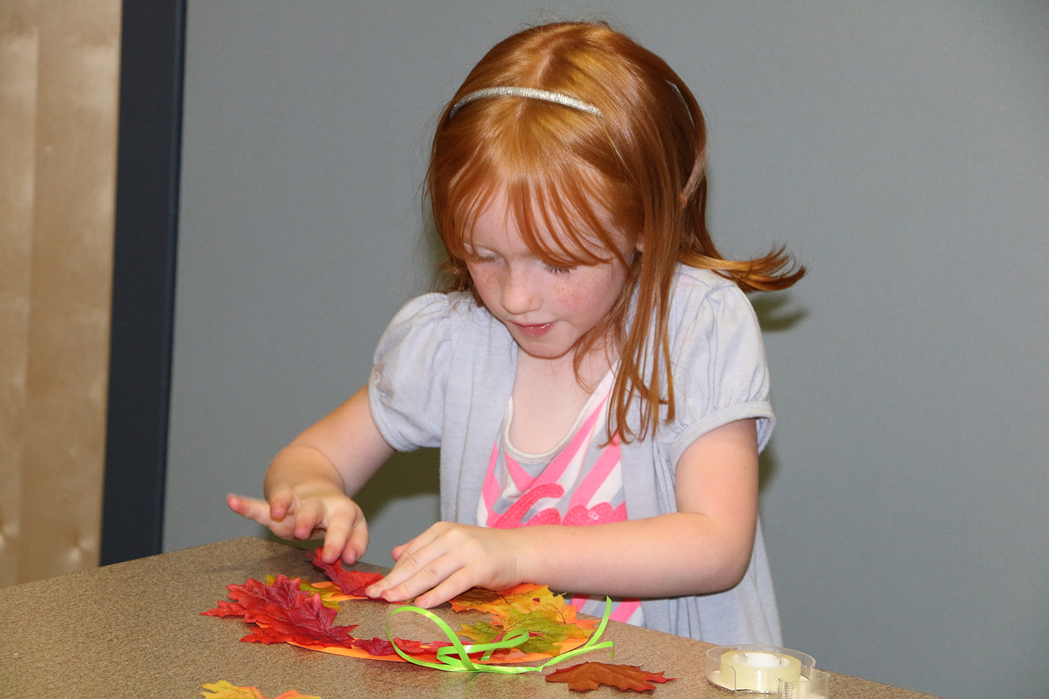 Child doing a craft